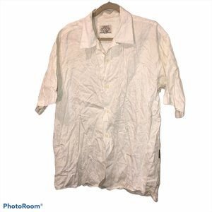 Giorgio Armani white classic linen shirt M